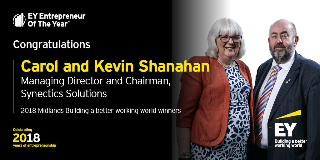 Carol and Kevin Shanahan win award for 'Building A Better Working World' at Ernst & Young Entrepreneur of the Year Awards